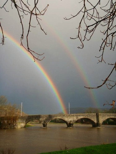 rainbow over the Wye