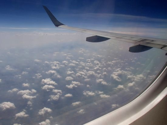 view from the plane window