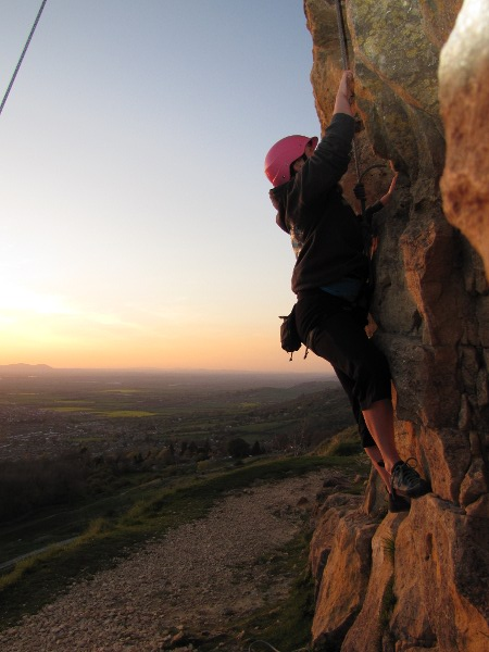me climbing at Cleeve