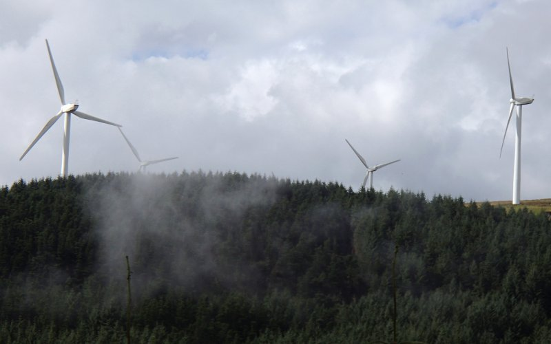 wind turbines at Afan forest park