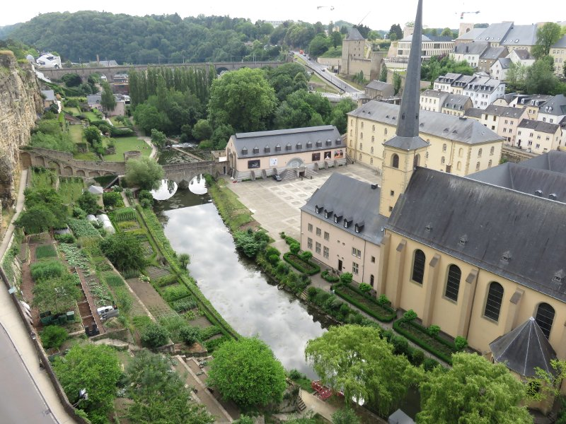 view over Luxembourg city