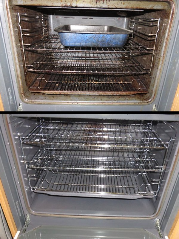 oven, before and after