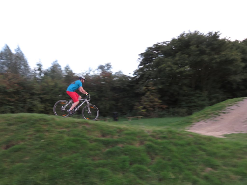 on the pump track