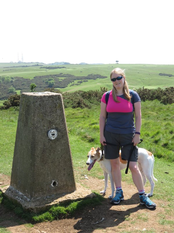 trigpoint, me, dog