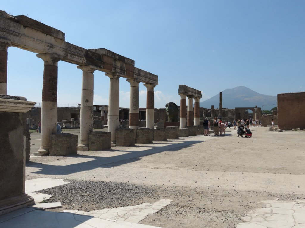 Pompeii forum, with Vesuvius in the background