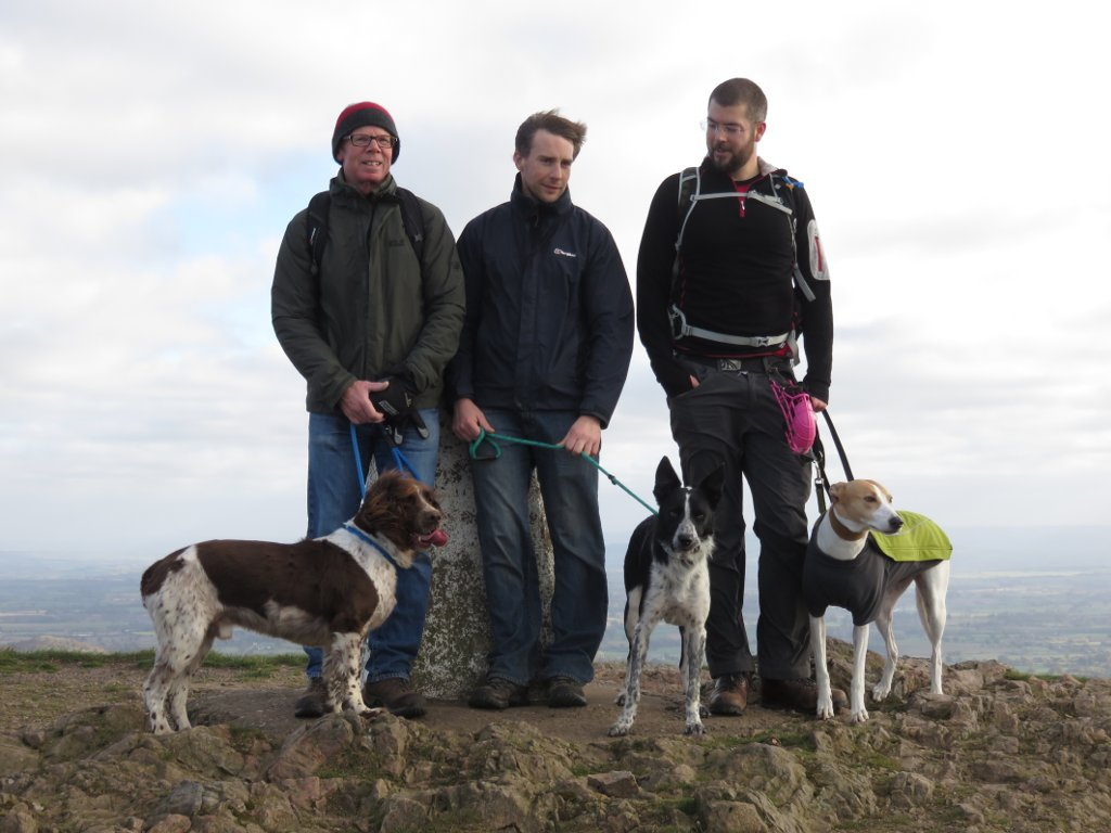 dogs by the trig point