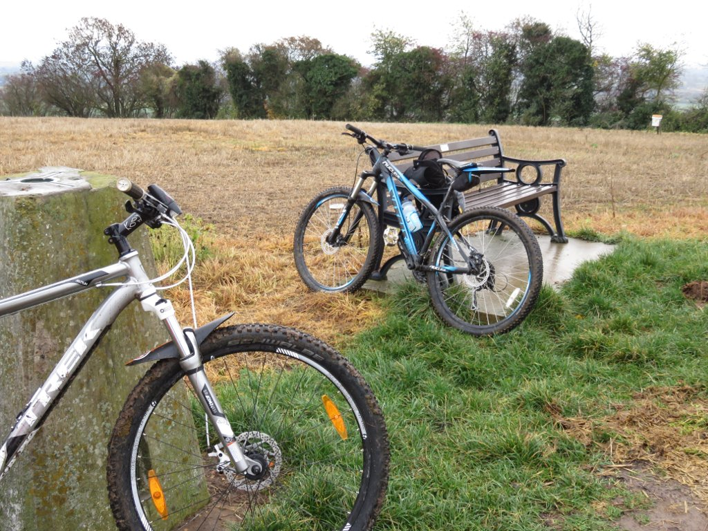 bikes at the trigpoint