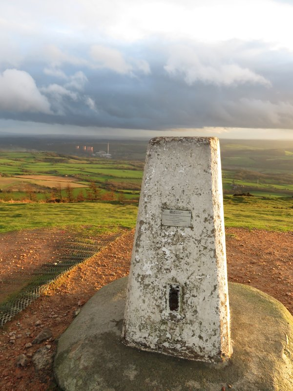 trig point on top of the Wrekin
