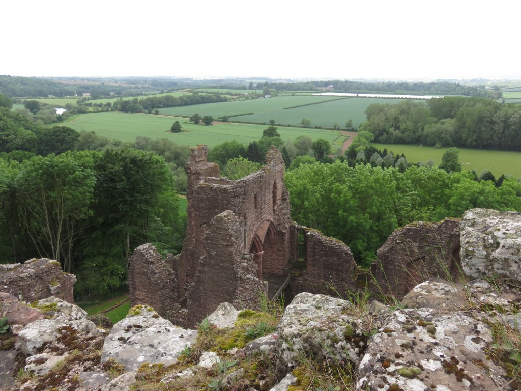 view from the top of the keep at Goodrich Castle