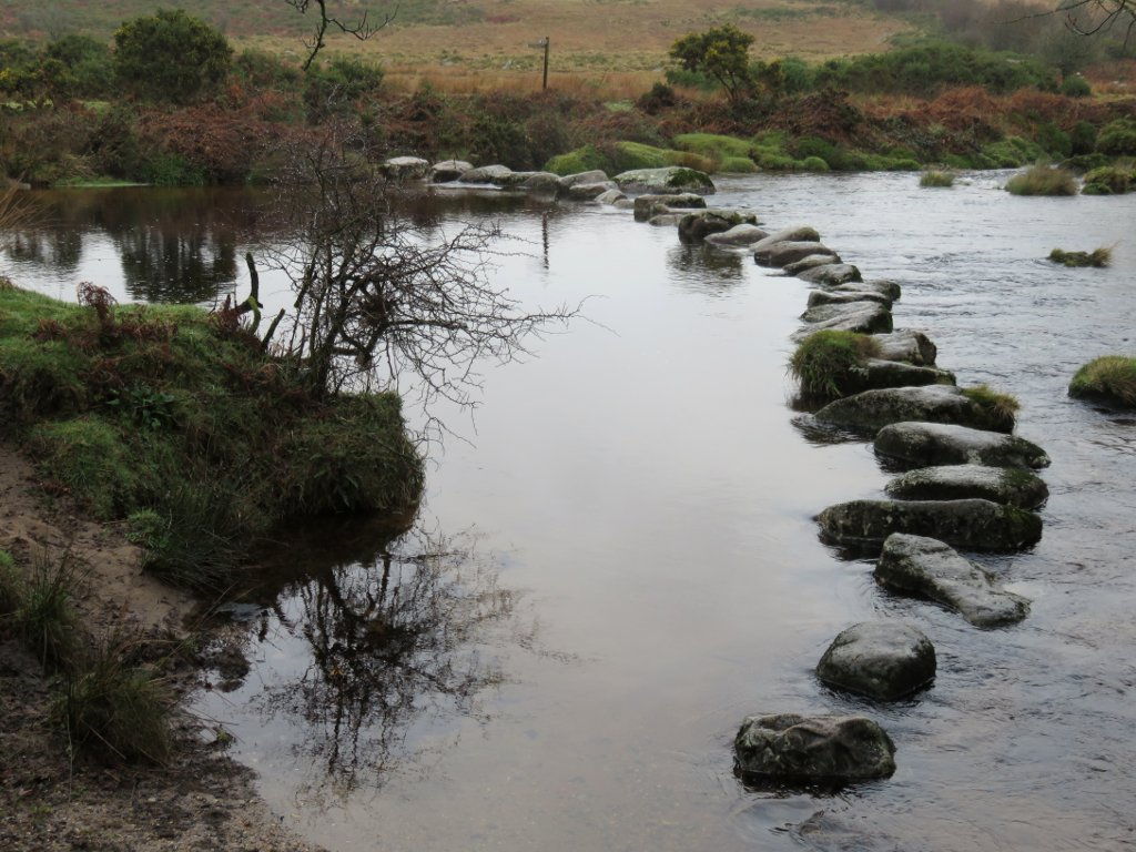 stepping stones on the West Dart