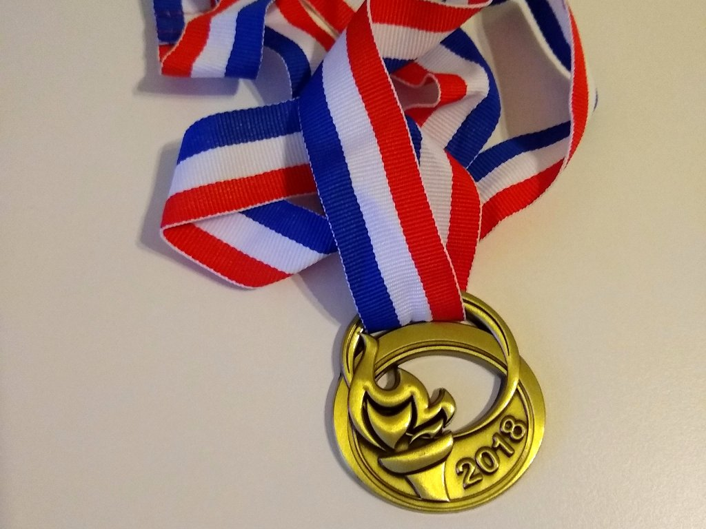 highnam court run 2018 medal