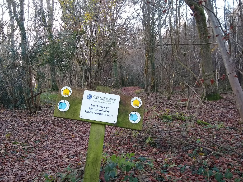 clear footpath/bridleway signs