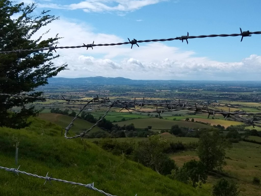 Malvern Hills, seen from the top of Bredon hill