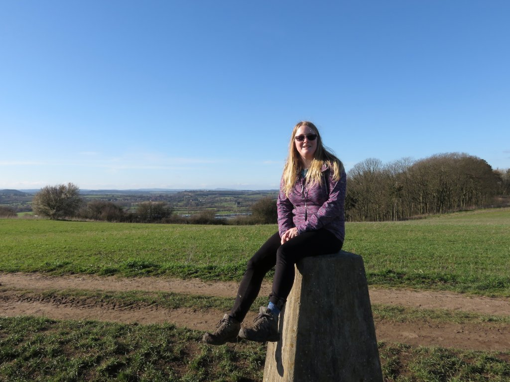 me sitting on the trigpoint
