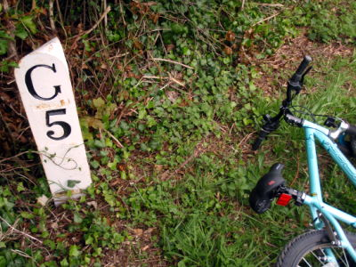 5 mile milepost, plus bike