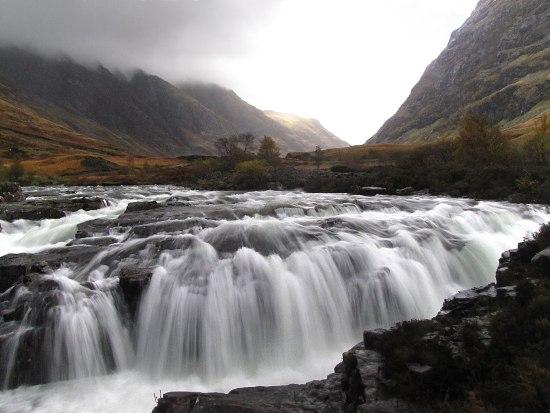 long exposure of a Glencoe waterfall