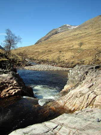 view from the third drop of Triple Step, River Etive