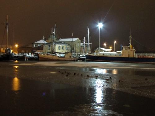 snowy/icy docks