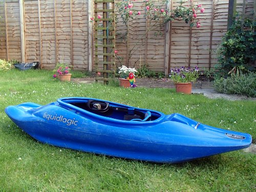 new playboat sitting in the garden
